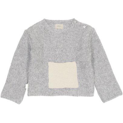 BABY ALPAGA Galipette Contrasting Alpaca Wool Baby Jumper with Pocket-listing