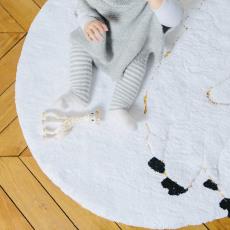 BABY ALPAGA Gestreifte Baby-Strampelhose aus Alpaka Griffon-listing