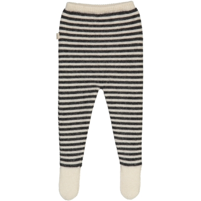 BABY ALPAGA Griffin Stripe Alpaca Wool Baby Trousers with Feet-listing