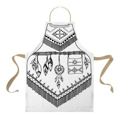 Marielle Bazard Déguisement à colorier avec 6 feutres tablier l'indienne Blanc-listing