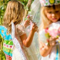 Marielle Bazard Disfraz para colorear con 4 rotuladores varita de princesa Blanco-listing
