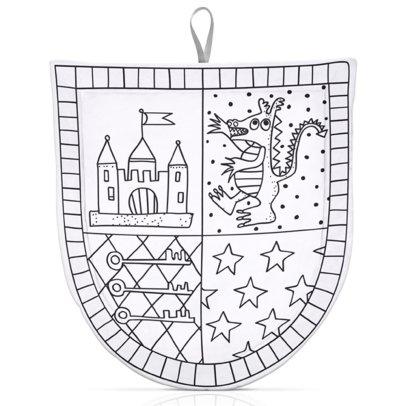 Marielle Bazard Déguisement à colorier avec 4 feutres bouclier du chevalier White-listing