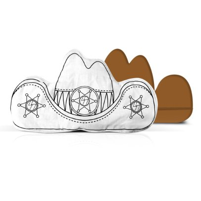 Marielle Bazard Déguisement à colorier avec 4 feutres la coiffe du shérif White-listing