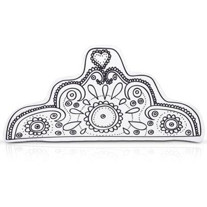 Marielle Bazard Déguisement à colorier avec 4 feutres diadème de la princesse Blanc-listing