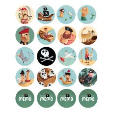 Londji Pirate Memory Game Multicoloured-listing