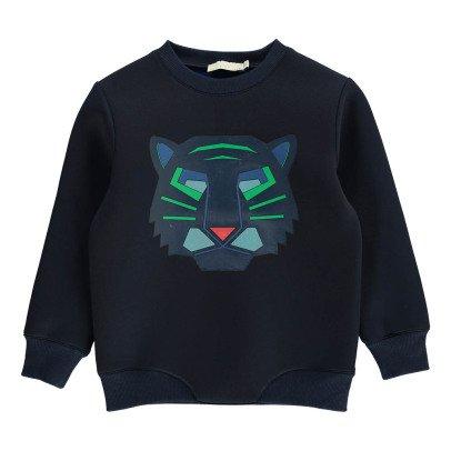Stella McCartney Kids Reeve Neoprene Tiger Sweatshirt-listing