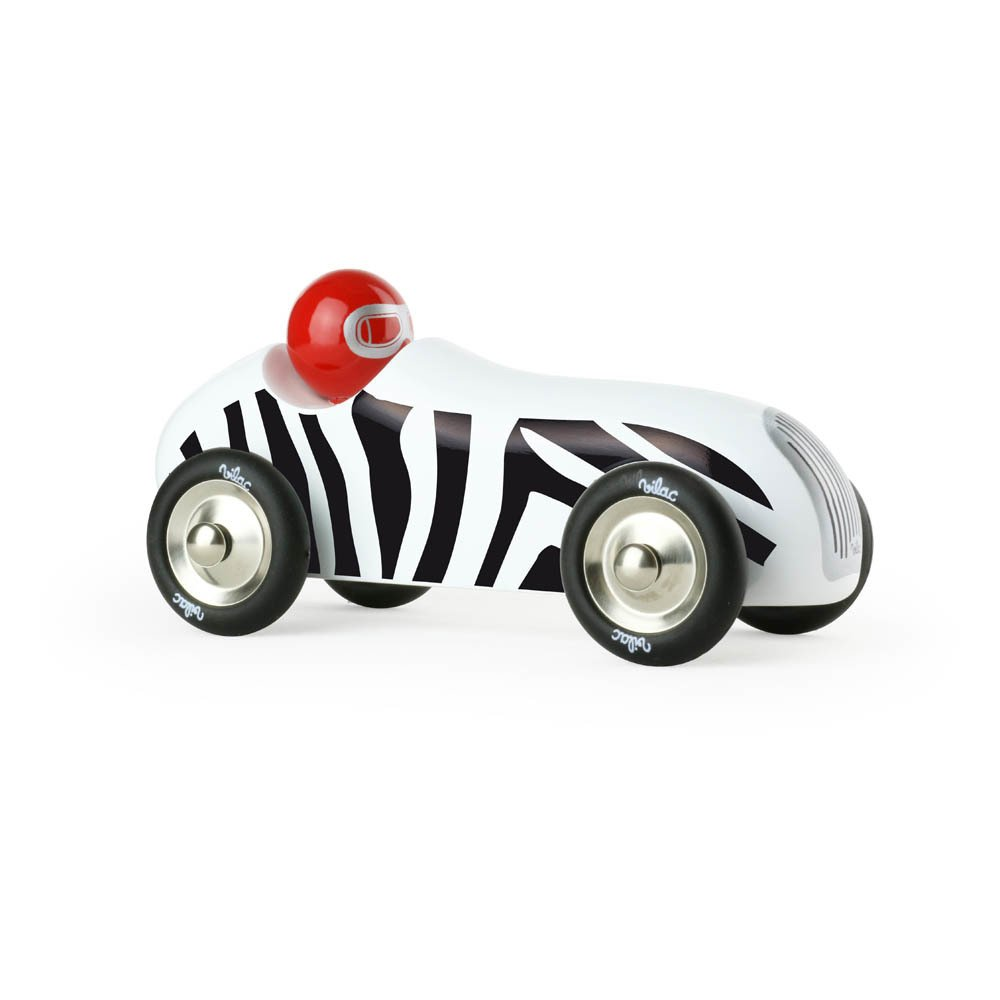 Zebra Small Old Sports Car White-product