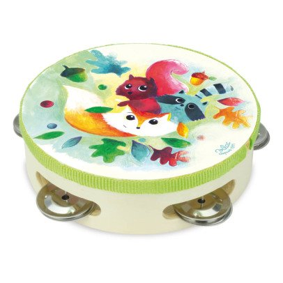 Vilac Woodland Wooden Tambourine Multicoloured-listing