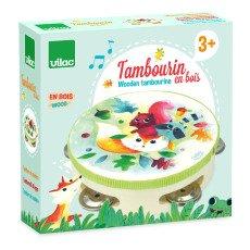 Vilac Tambourin en bois Woodland Multicolore-listing
