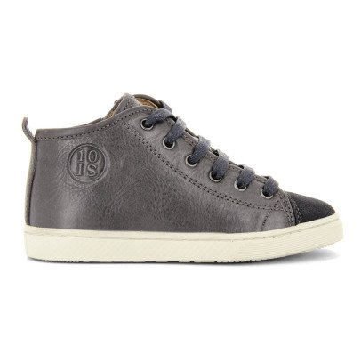 10 IS Leather Lace-Up Zip-Up Ten Base Roots Trainers-listing