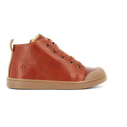 10 IS Leather Lace-Up Ten Mid Trainers-listing