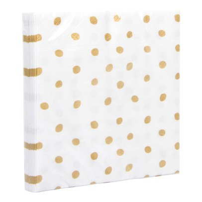 Klevering Gold Polka Dot Serviettes-listing