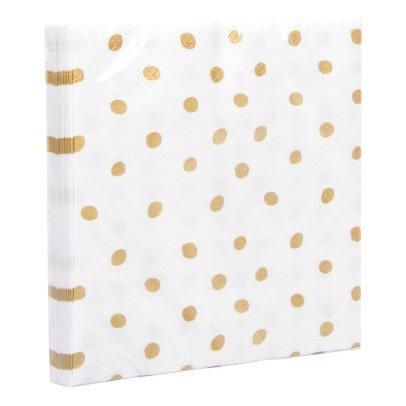 Klevering Serviettes pois dorés Blanc-listing