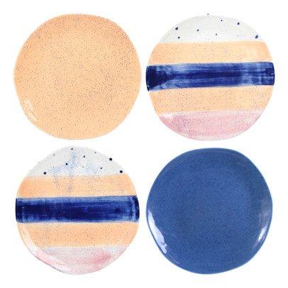 Klevering Platos Brush - Set de 4 Azul-listing