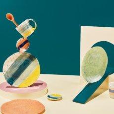 Klevering Assiettes Brush - Set de 4  Bleu-listing