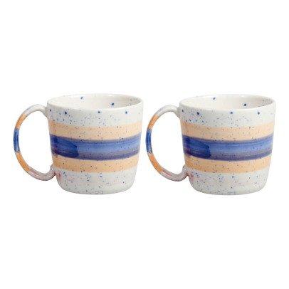 Klevering Mugs brush - Set de 2  Bleu-listing
