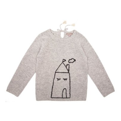 Emile et Ida Hand-Embroidered House Pullover-listing