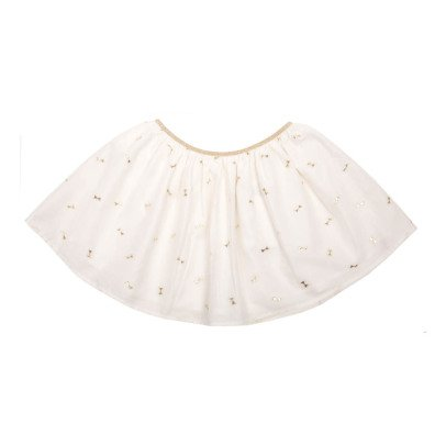 Emile et Ida Silk Cotton Jacquard Skirt with Lurex Bows-listing