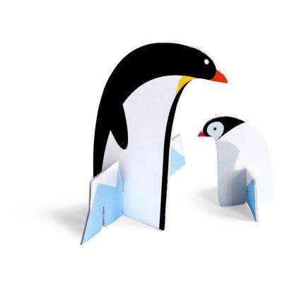 Studio Roof Carte à construire pingouin-listing