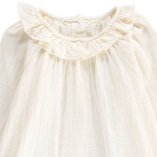 Poudre Organic Organic Cotton Neck Frill Blouse-listing