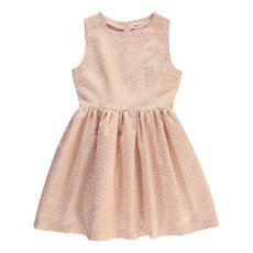 product-Poppy Rose Ghita Lurex Polka Dot Dress