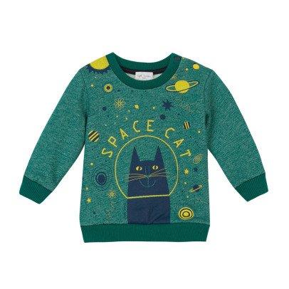 "Paul Smith Junior ""SPACE CAT"" Miller Sweatshirt-listing"