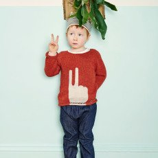 Oeuf NYC Peace Alpaca Wool Baby Jumper-product