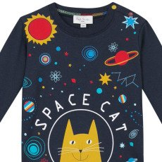 """Paul Smith Junior T-shirt """"SPACE CAT"""" Mike-listing"""
