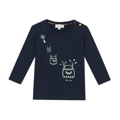 Paul Smith Junior T-shirt Phosphorescent Extraterrestres Moon-listing