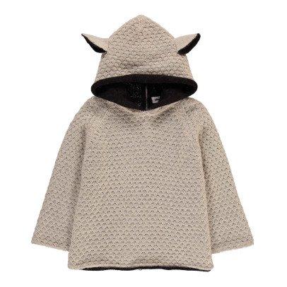 Oeuf NYC Baby-Burnus Schaf aus Alpaka mit Kapuze-listing