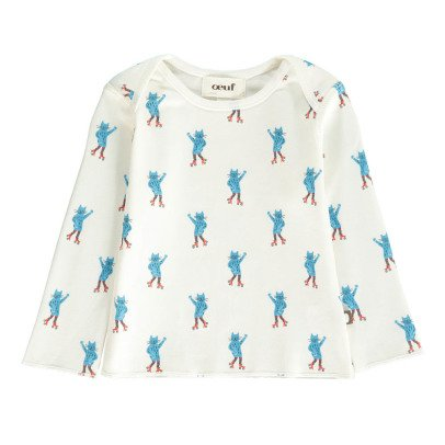 Oeuf NYC Organic Pima Cotton Cat T-Shirt-listing