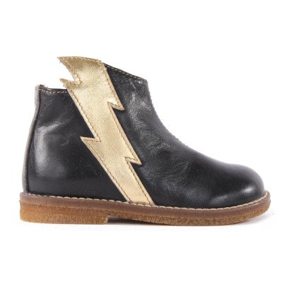 Ocra Boots Cuir Eclair Zippées-listing