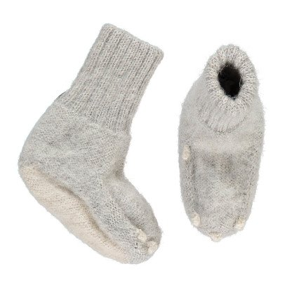 Oeuf NYC Rabbit Alpaca Wool Baby Slippers-listing