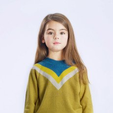 Hello Simone Pull Laine Rayures Montana-listing