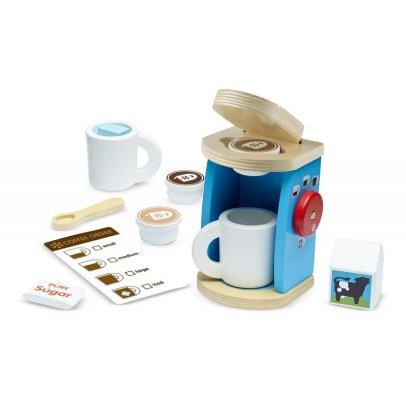 Melissa & Doug Máquina de café y tazas de madera Multicolor-listing
