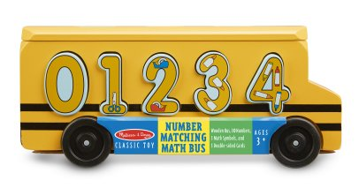 Melissa & Doug Bus escolar para aprender a contar Amarillo-listing