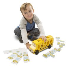 Melissa & Doug Bus scolaire pour apprendre à compter Yellow-product