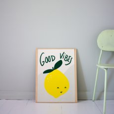Mathilde Cabanas Affiche Good vibes Multicolore-listing