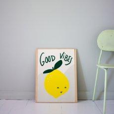Mathilde Cabanas Poster Good vibes-Bunt -listing