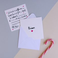 Mathilde Cabanas Invitation anniversaire Bisou - Set de 6 Multicoloured-listing