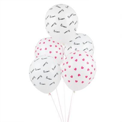 Mathilde Cabanas Ballons imprimés Bisou - Lot de 5 Multicolore-listing