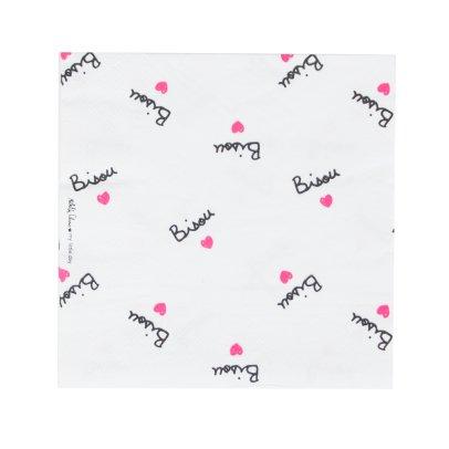 Mathilde Cabanas Serviettes en papier Bisou - Lot de 20 Multicolore-listing