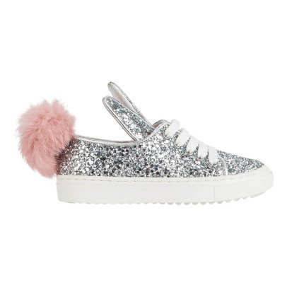 Minna Parikka Sequined trainers with fur tail -listing