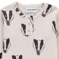 Mini Rodini Organic Cotton Badger Henley Neck Shirt-listing