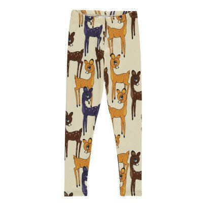 Mini Rodini Organic Cotton Brown Fawn Leggings-listing