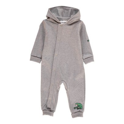 Mini Rodini Organic Cotton Romper with Frog Hood-listing