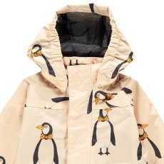 Mini Rodini Waterproof Penguin Jacket-listing