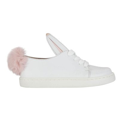 Minna Parikka Baskets Cuir Pompon Fourrure Tail-listing