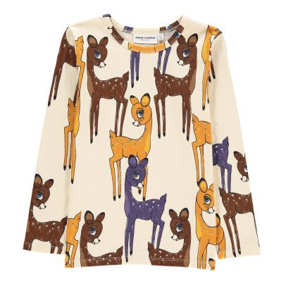 Mini Rodini Organic Cotton Brown Fawn T-Shirt-listing