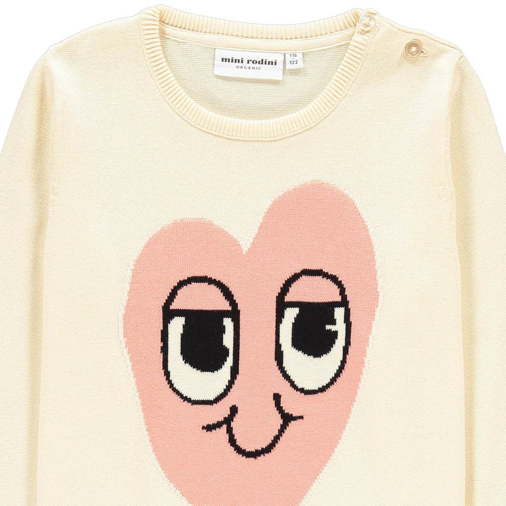Pullover Corazón Rosa Algodón Biológico-product